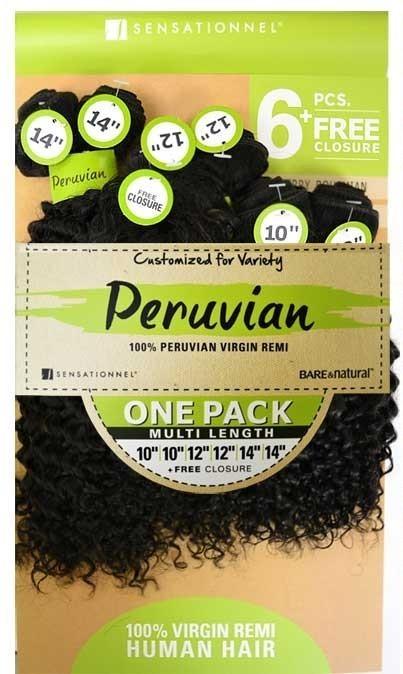 sensationnel 100  peruvian virgin remi bundle hair b  u0026 n jerry bohemian  one pack