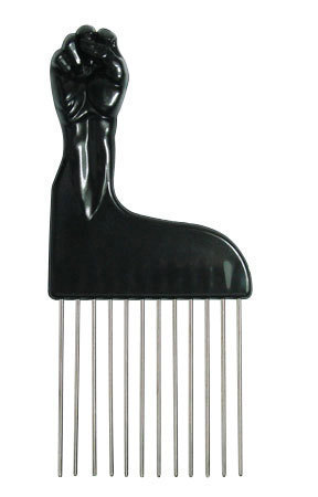 Afro Comb Metall Antonio Fist Pick Peace for Hairstyling
