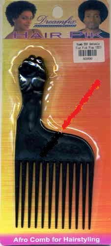 Afro Comb Plastic Antonio Fist Pick Peace for Hairstyling