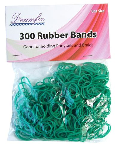 Dreamfix Rubber Bands One Size 300pcs Green