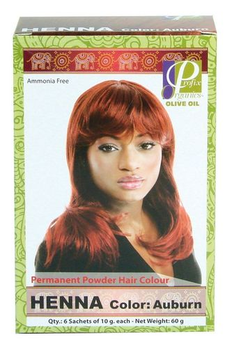 Henna Permanent Powder Hair Colour Auburn 6x10g