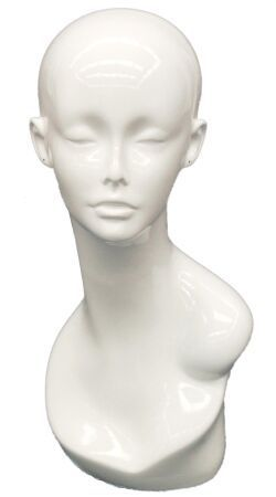 Sleek Mannequinn Head White Gloss