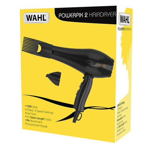 WAHL Afro PowerPik2 1500W Hair Dryer with UK PLUG