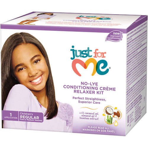 Just For Me No-Lye Conditioning Cream Relaxer Kit 1 App Regular