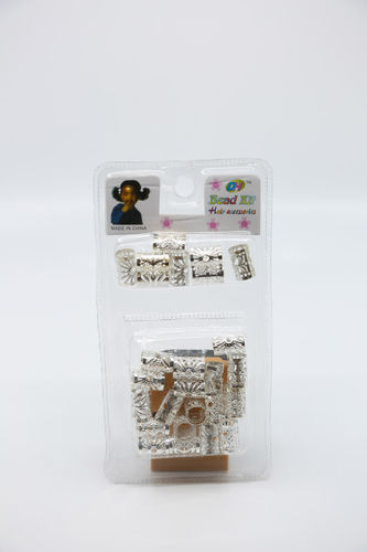 KL Bead Kit Hair Accessories Silber Color 22 Pcs