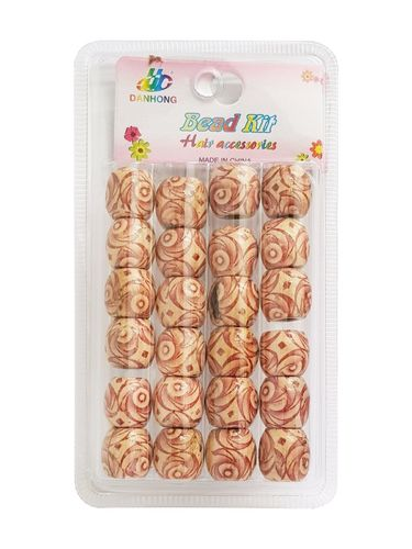 Large Wooden Hair Dreadlock Beads Big Hole 24 Pcs (2)
