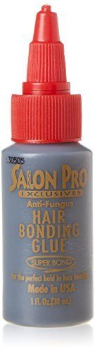 Salon Pro Black Hair Bonding Glue 60ml